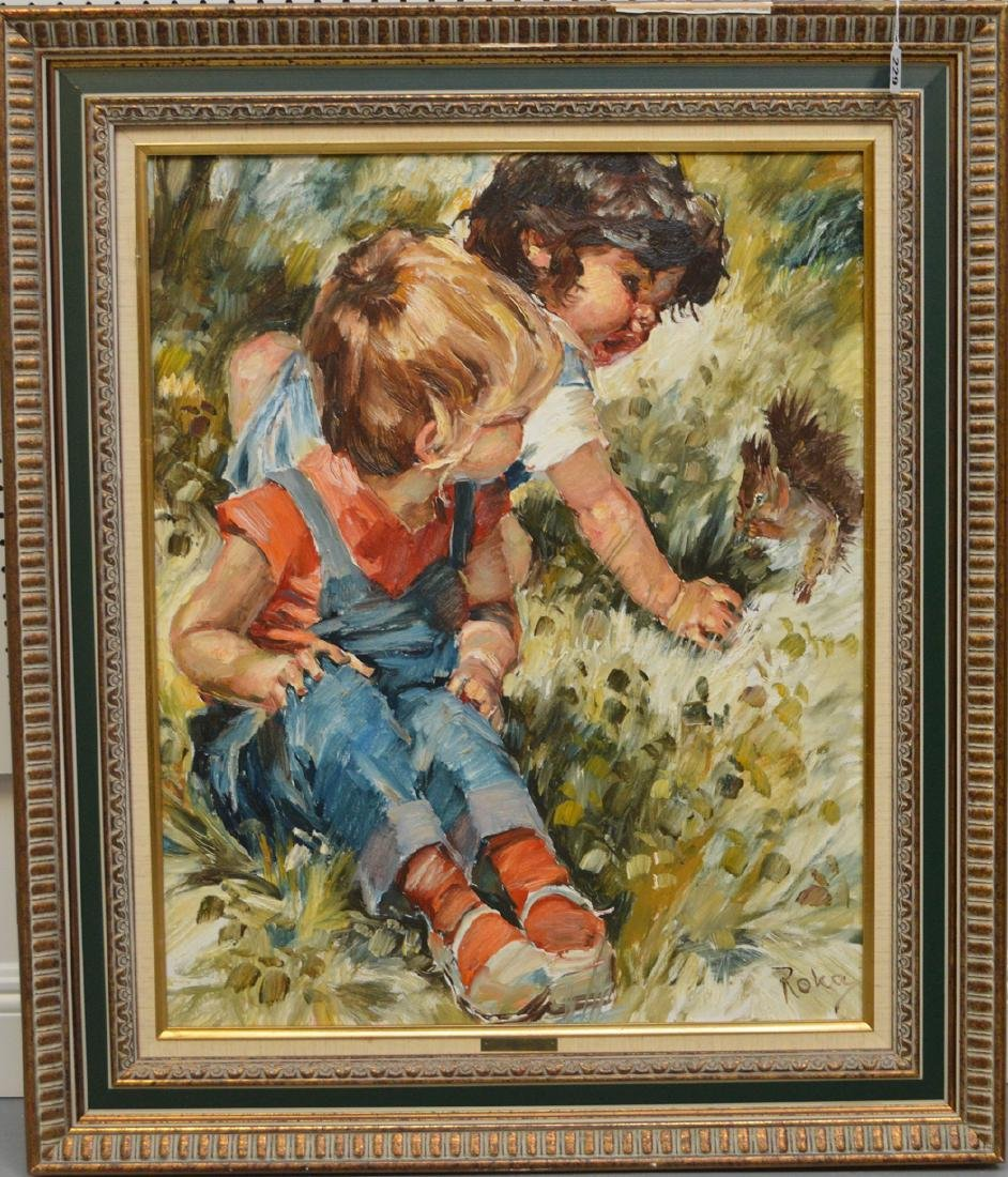 Charles A. Roka (HUNGARIAN, 1912-1999) oil on canvas, 2