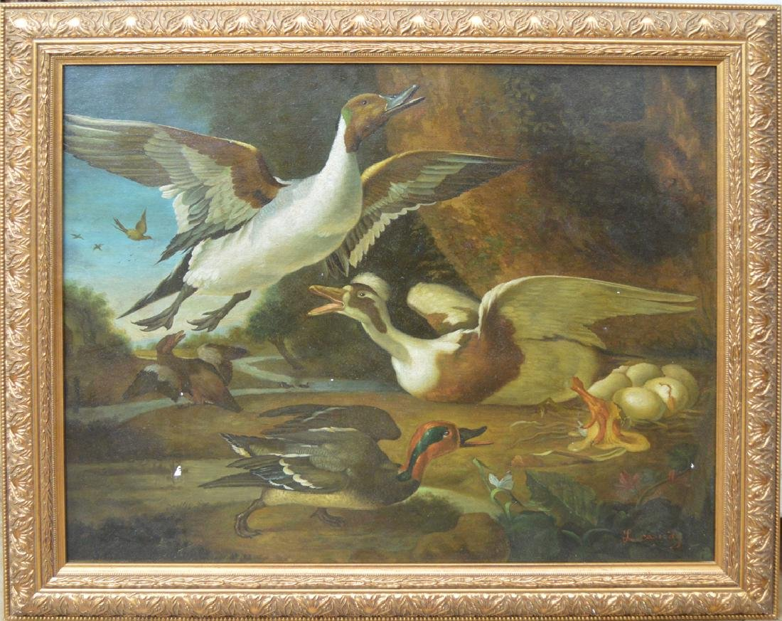 20th Century Painting signed L Cassidy, oil on canvas,