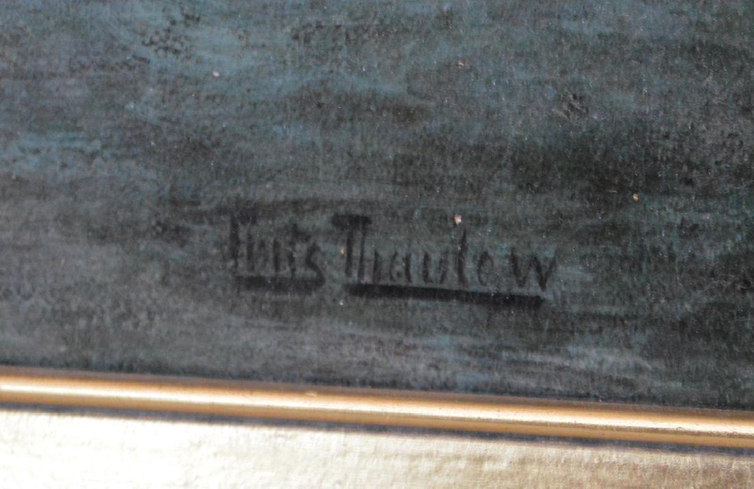 Frits Thaulow (NORWEGIAN, 1847-1906) oil on board, 14 x - 4