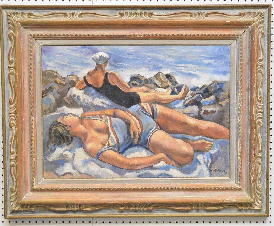 Russian Painting After Zinaida Serebryakova , oil on