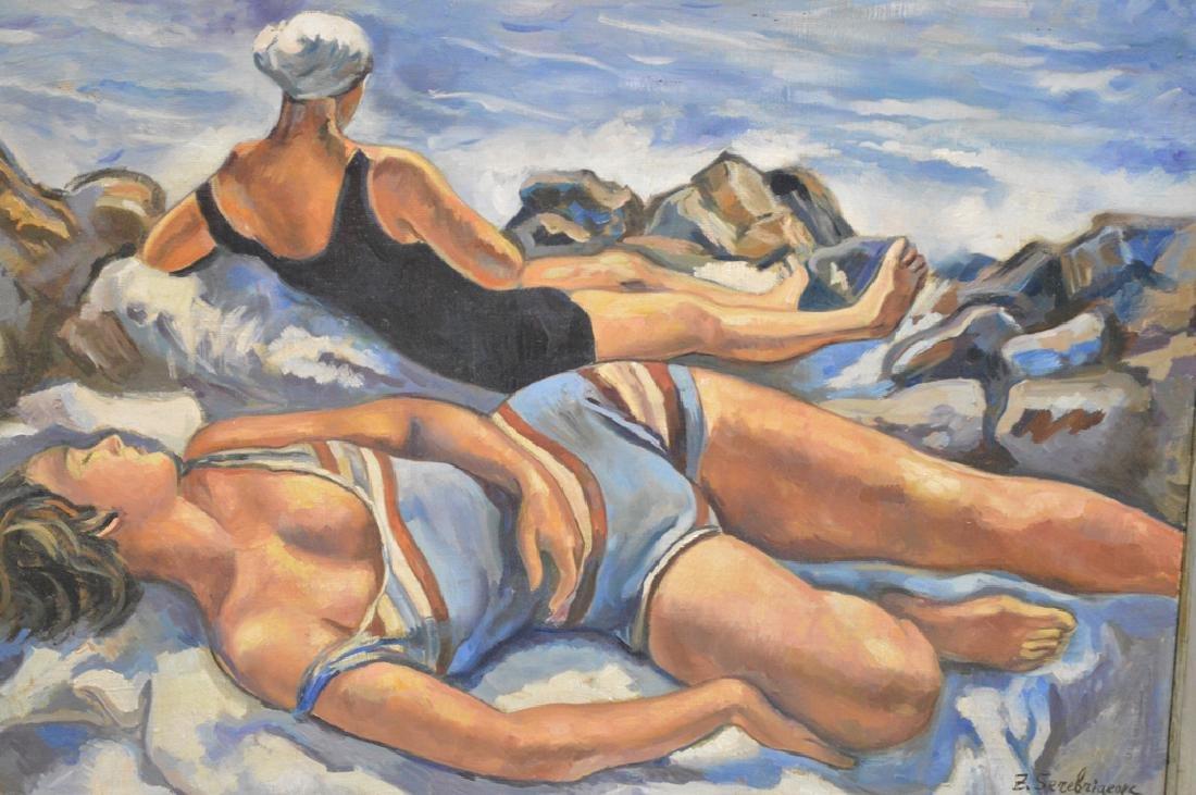 Russian Painting After Zinaida Serebryakova , oil on - 2