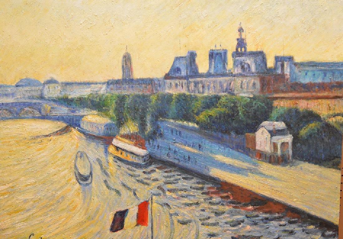 Philip Corley (America b. 1944) oil on canvas, Le Seine - 2