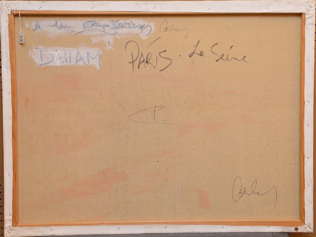 Philip Corley (America b. 1944) oil on canvas, Le Seine - 4