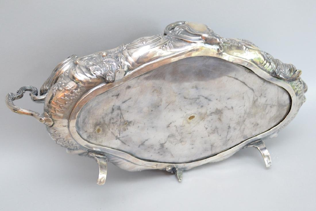 French sterling centerpiece, 26ozt, 18 x 8 - 4