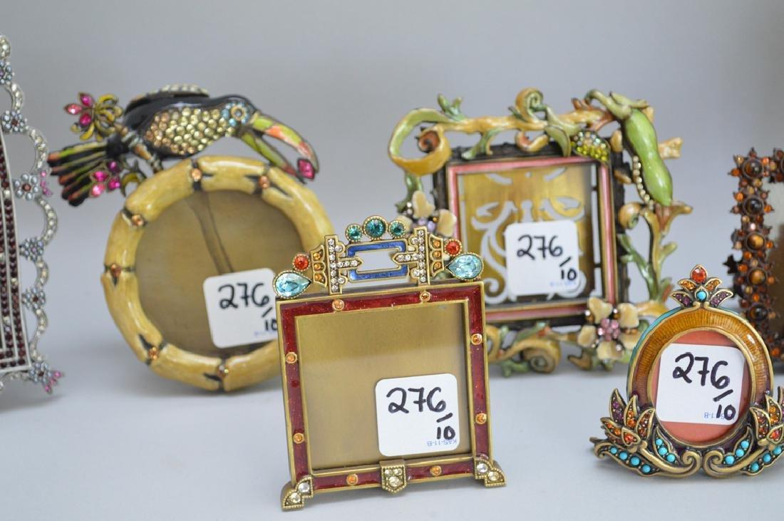 10 Jay Strongwater enamel frames, each signed, tallest - 2