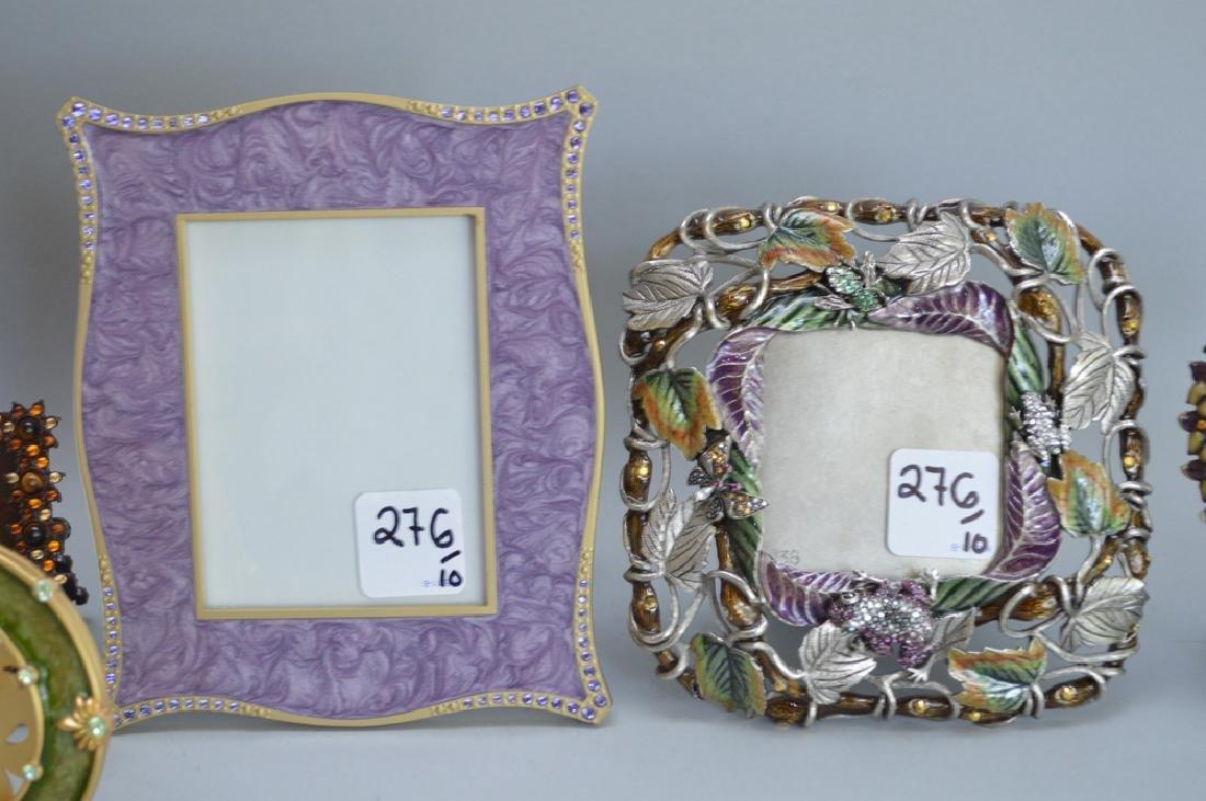 10 Jay Strongwater enamel frames, each signed, tallest - 4