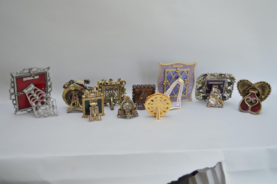 10 Jay Strongwater enamel frames, each signed, tallest - 6