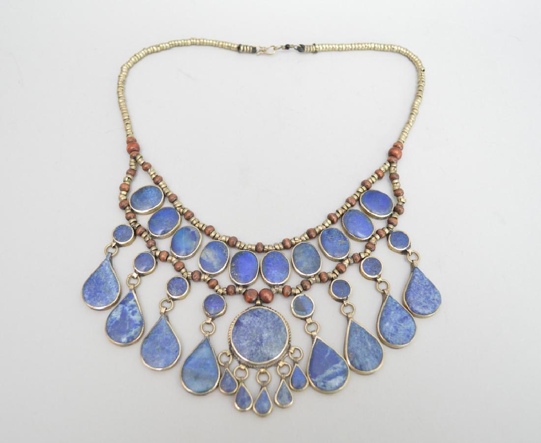 Ethnic lapis necklace, 10L