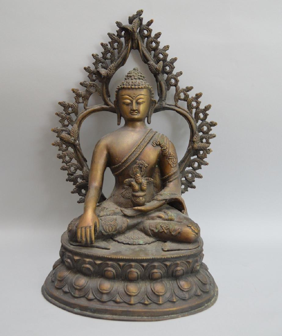 Seated Asian Deity, 10 1/2h