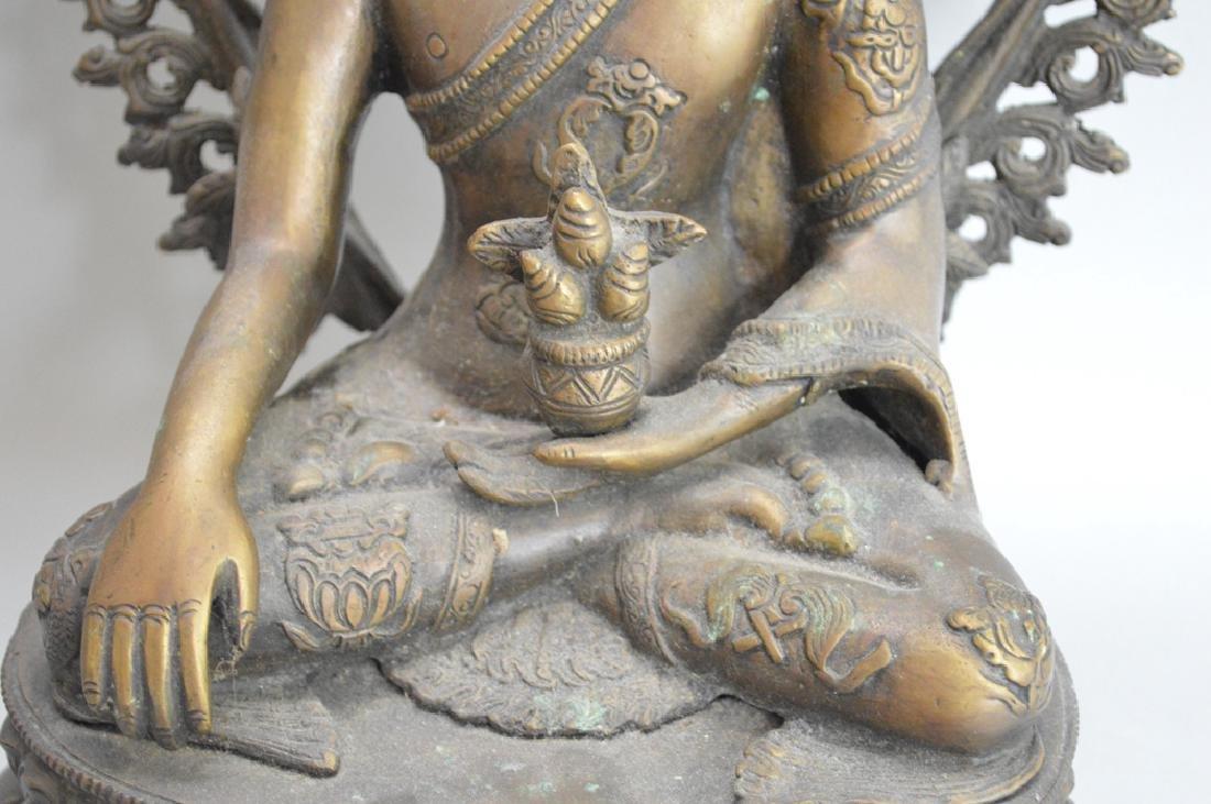 Seated Asian Deity, 10 1/2h - 3