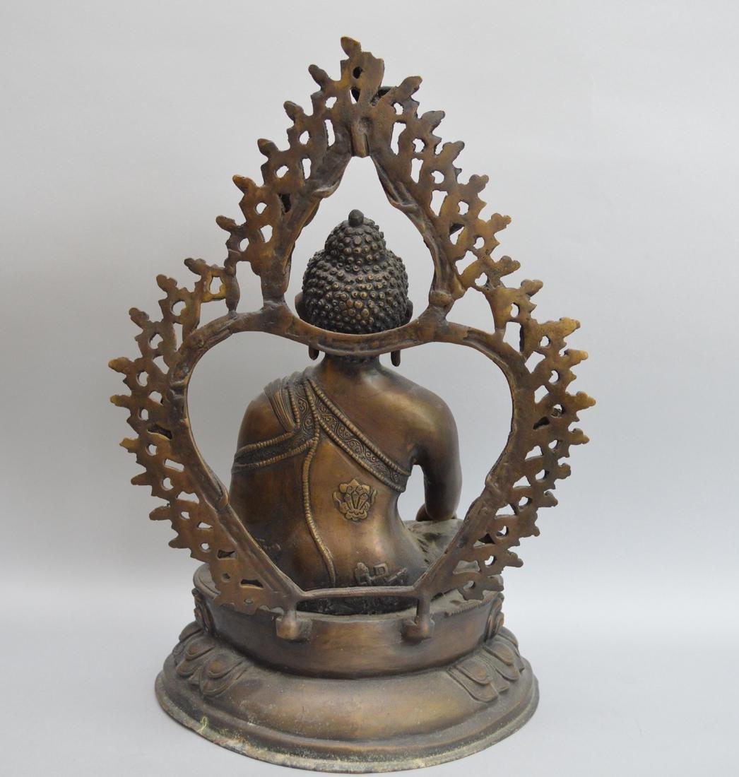 Seated Asian Deity, 10 1/2h - 4