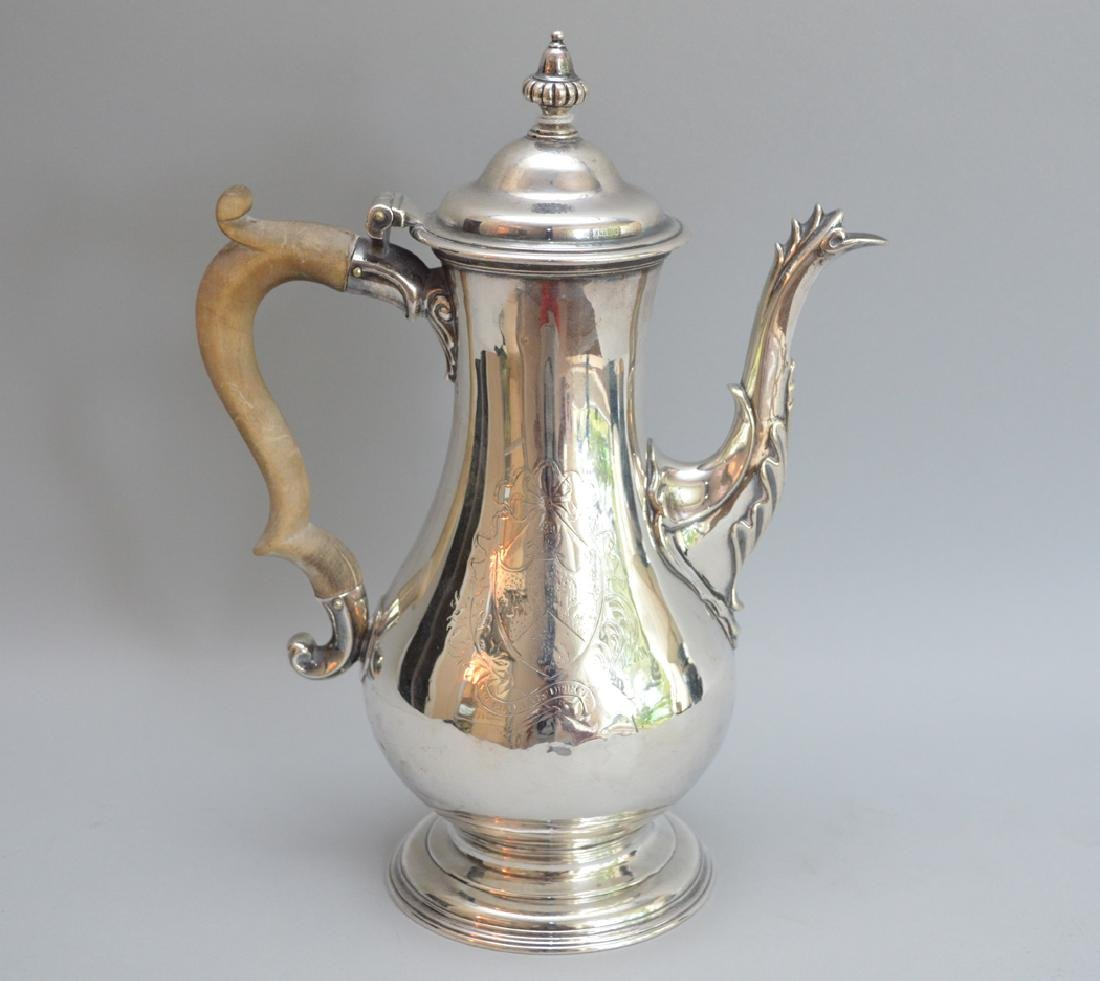 George III sterling silver coffee pot, Charles Wright,