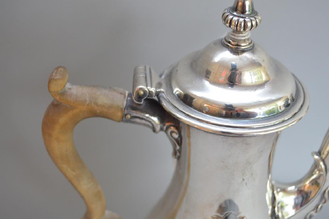 George III sterling silver coffee pot, Charles Wright, - 3
