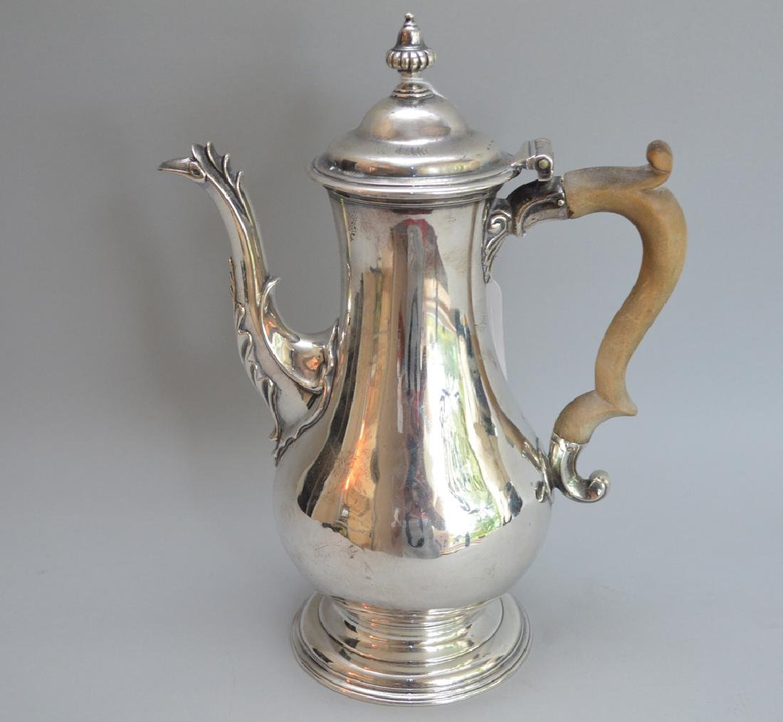 George III sterling silver coffee pot, Charles Wright, - 4