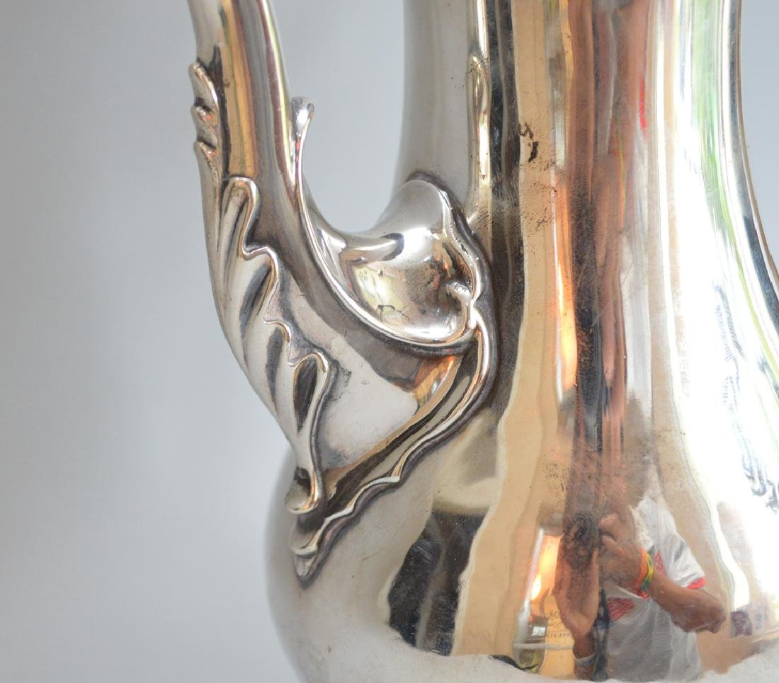 George III sterling silver coffee pot, Charles Wright, - 5