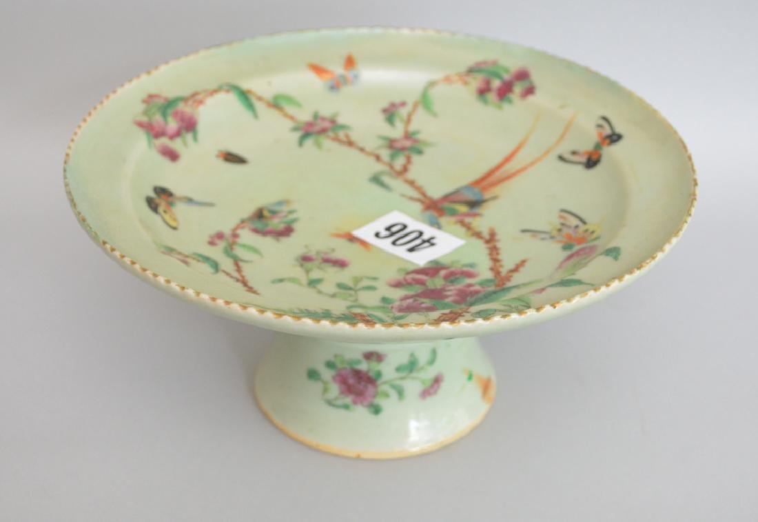 Chinese export Celadon compote, circa 1860, 4 3/8h