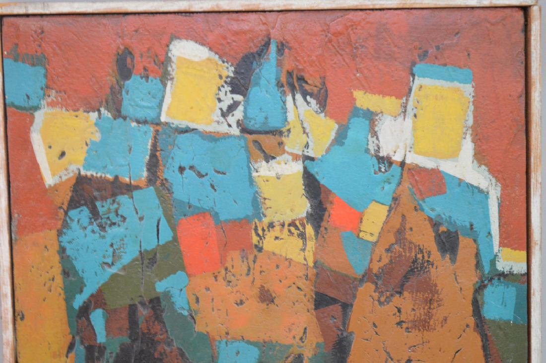 Modern Abstract oil on board, ca.1960/1970, 13 x 11-1/2 - 2