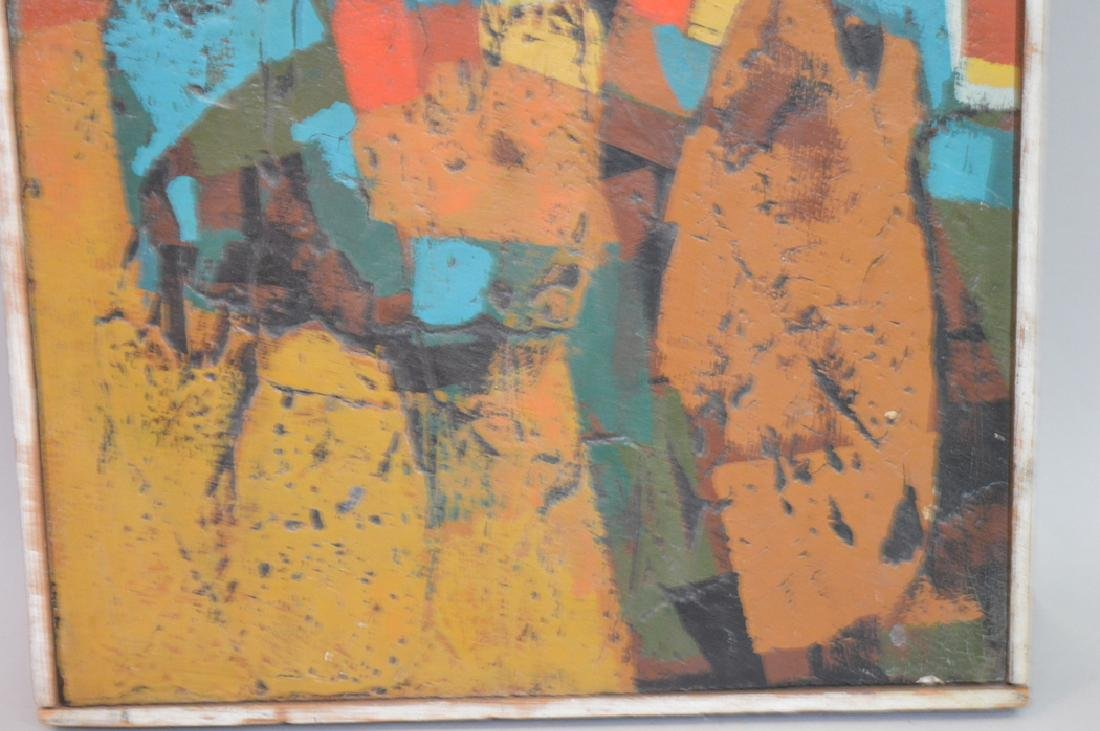 Modern Abstract oil on board, ca.1960/1970, 13 x 11-1/2 - 3