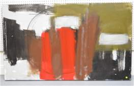 Large Abstract Modern Painting, oil on canvas, 36 x 60