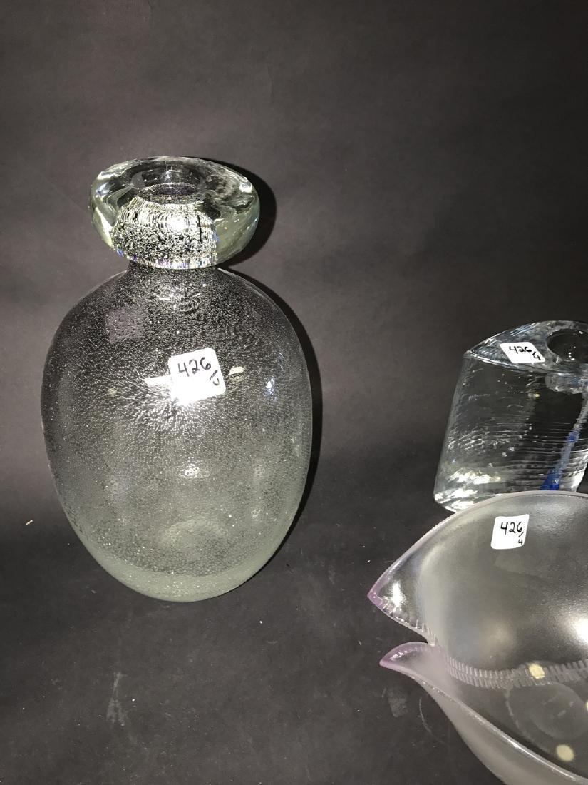 4 Piece Assorted Art Glass.  Tallest Ht. 17 - 2