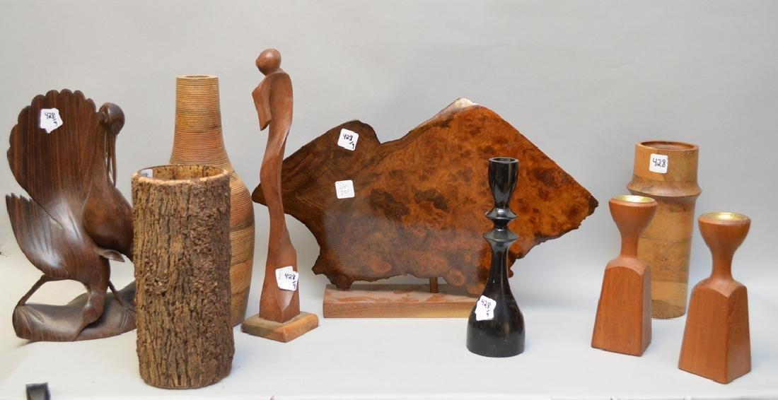 9 assorted wood novelty pieces
