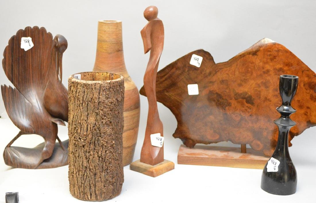9 assorted wood novelty pieces - 3