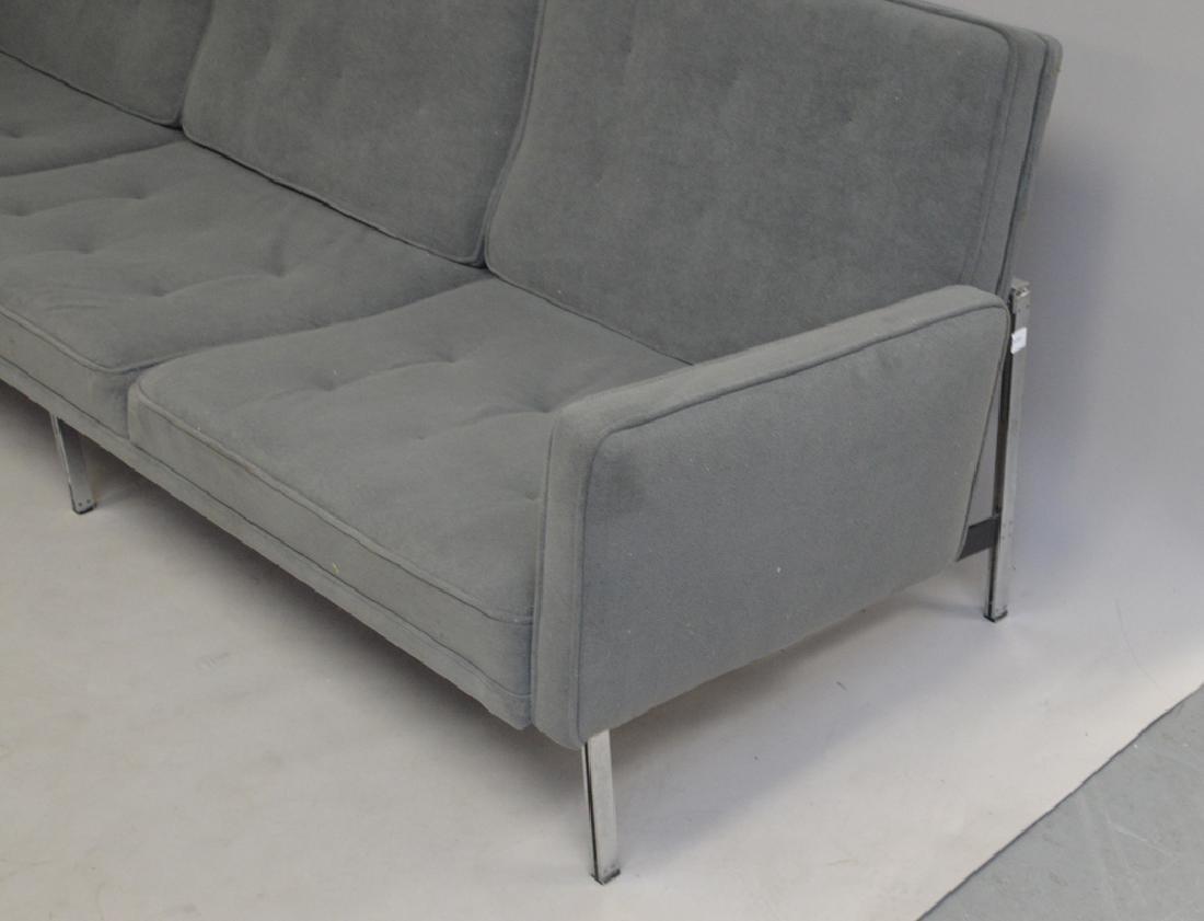 Grey modern sofa, 7' x 10h (floor to seat) - 3