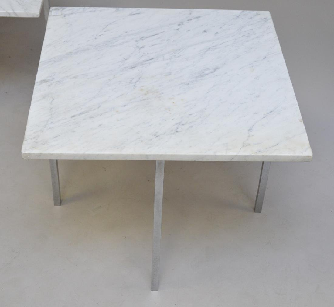 2 Knoll steel and marble tables, one 1960's 17h x 24w x - 2