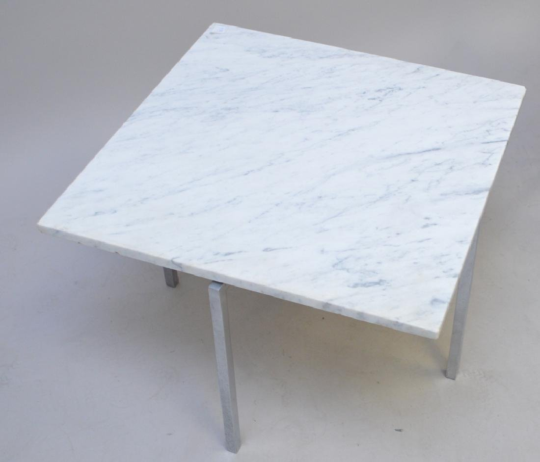 2 Knoll steel and marble tables, one 1960's 17h x 24w x - 3