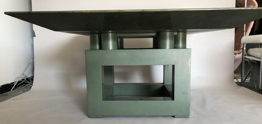Aldo Tura (attrib) Goatskin table, c. 1980's, 30h x 60w - 10