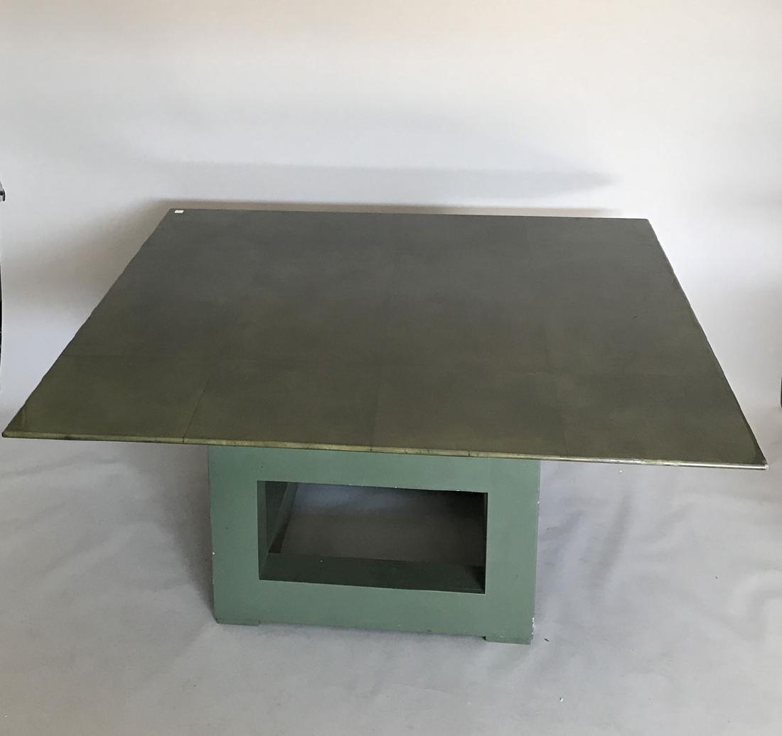 Aldo Tura (attrib) Goatskin table, c. 1980's, 30h x 60w
