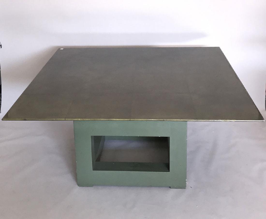 Aldo Tura (attrib) Goatskin table, c. 1980's, 30h x 60w - 2