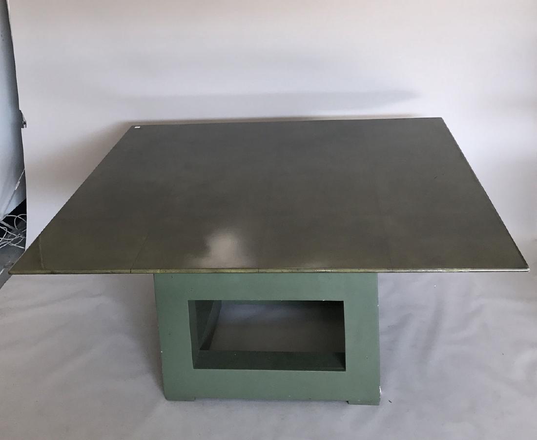 Aldo Tura (attrib) Goatskin table, c. 1980's, 30h x 60w - 3