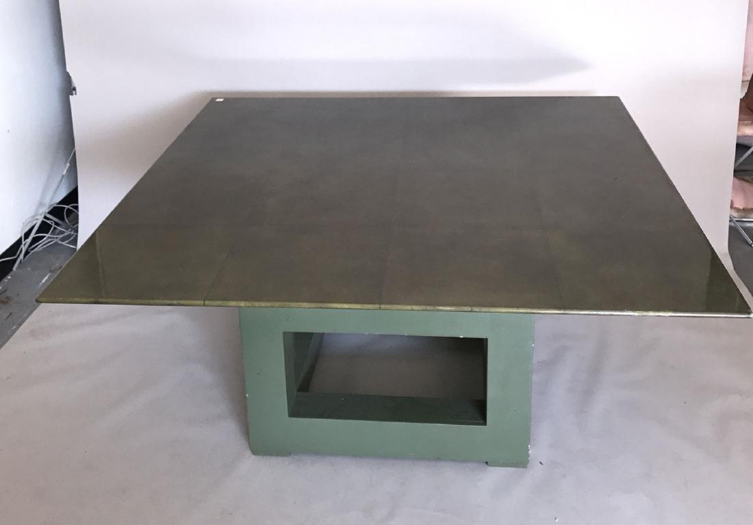 Aldo Tura (attrib) Goatskin table, c. 1980's, 30h x 60w - 4