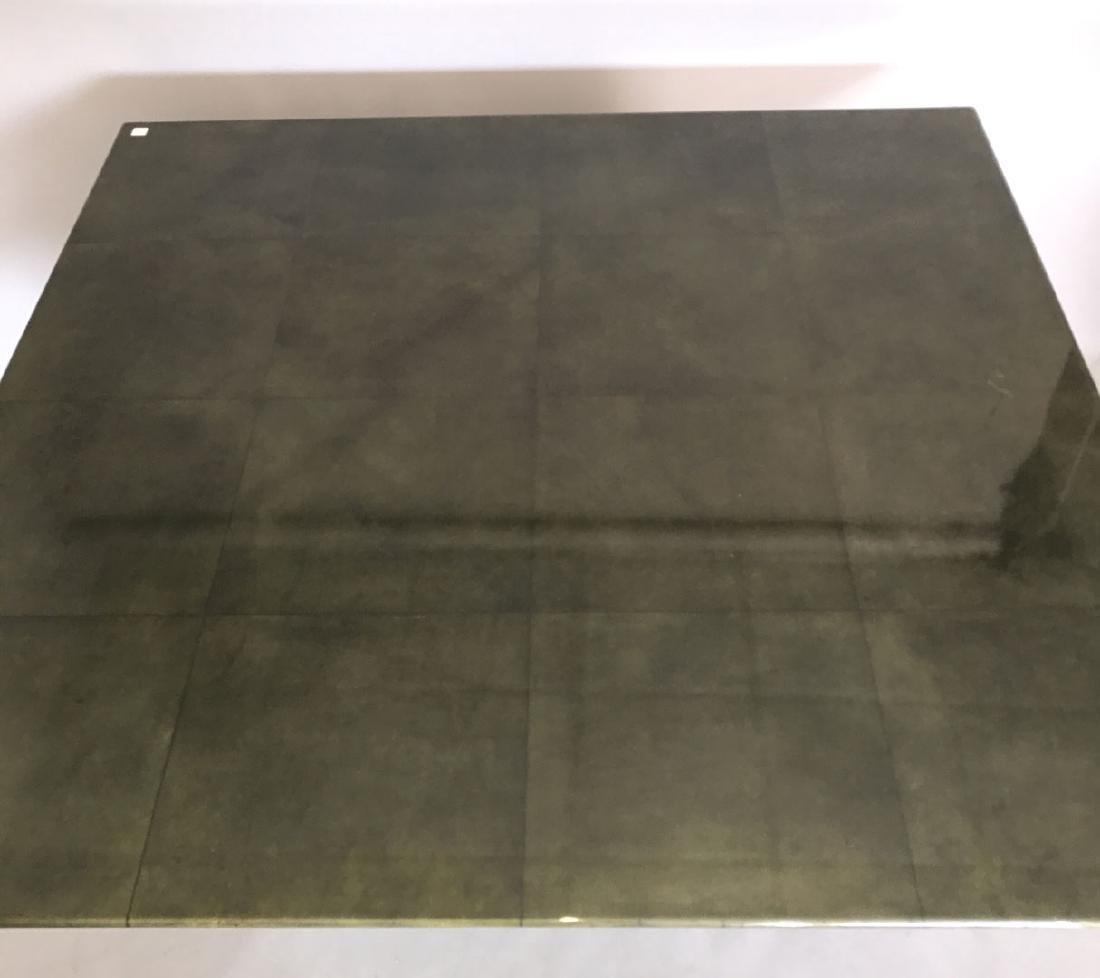 Aldo Tura (attrib) Goatskin table, c. 1980's, 30h x 60w - 5