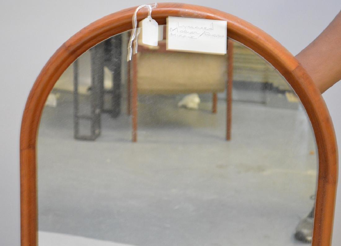 Scandinavian modern oval mirror, c. 1960's, 42 1/2h x - 2