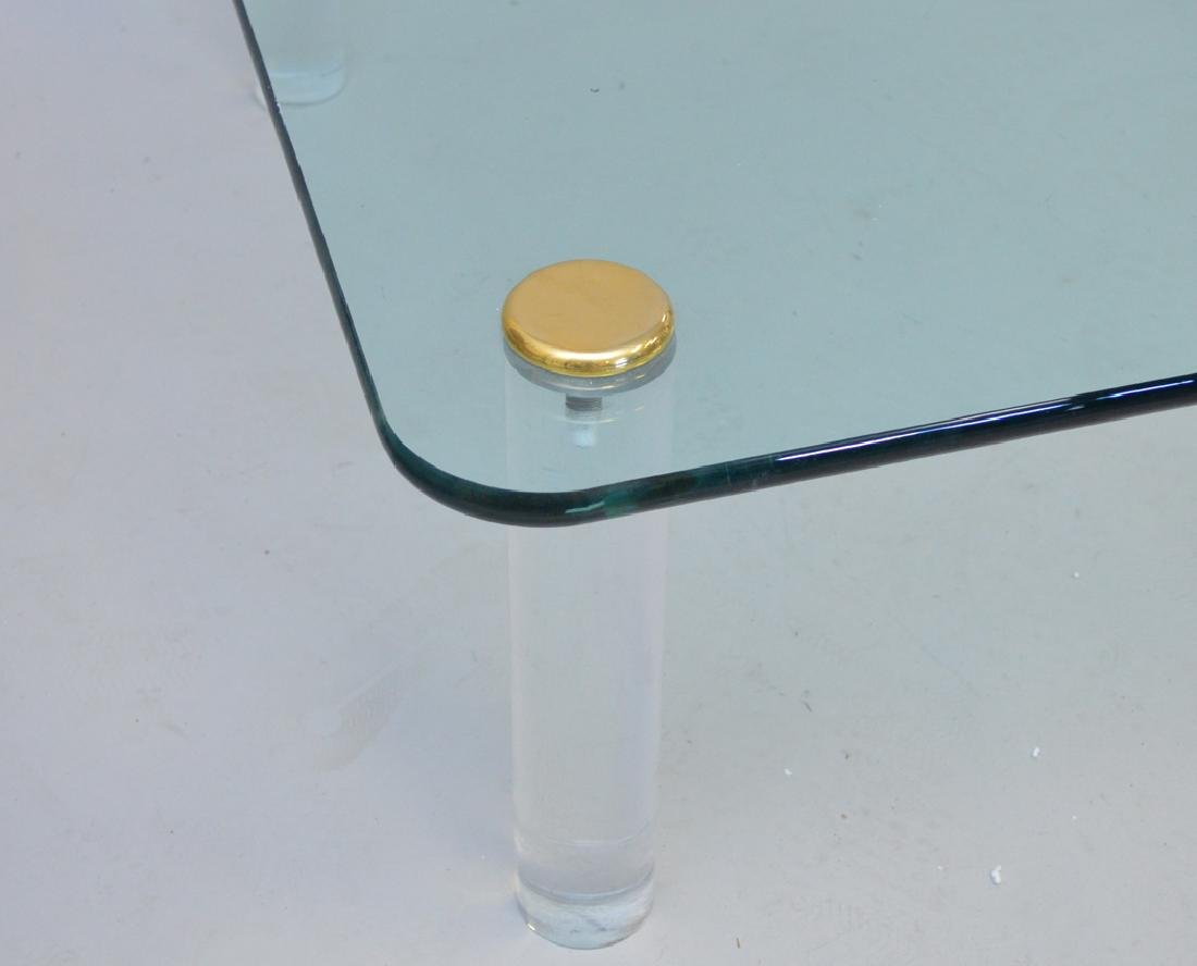 Glass coffee table with Lucite legs - 2