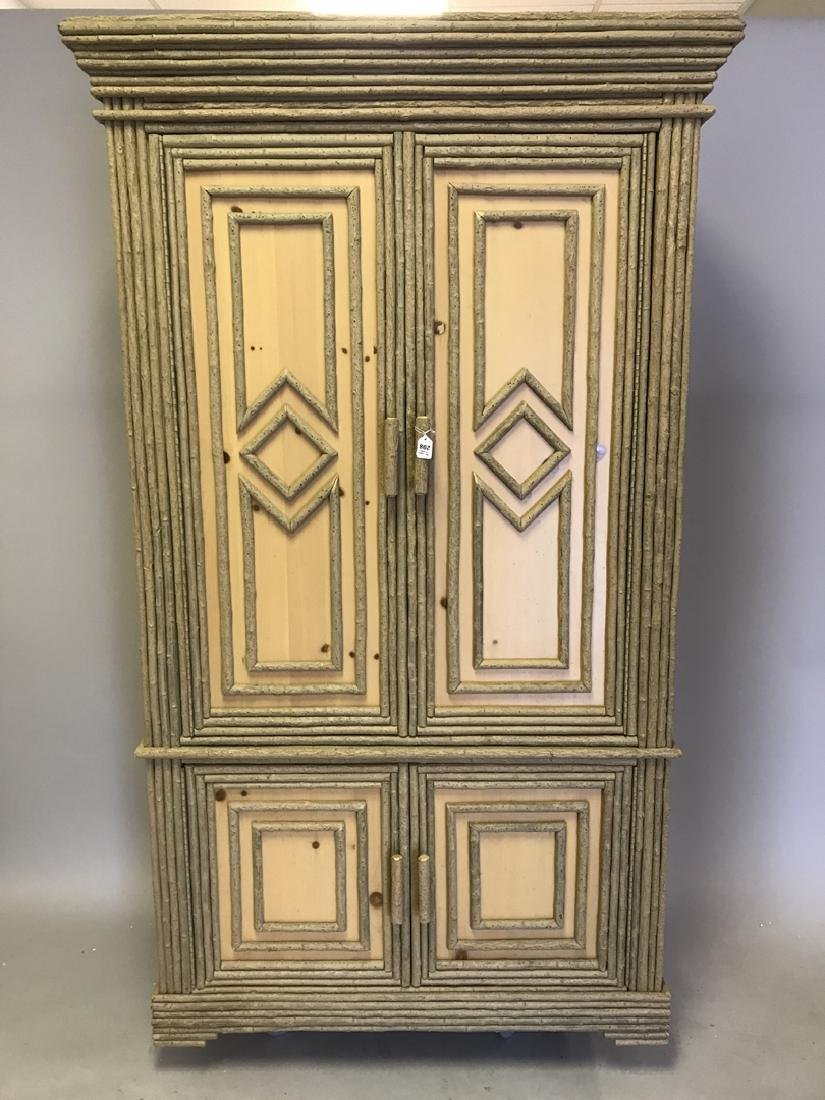 Adirondack style cabinet/armoire/linen press