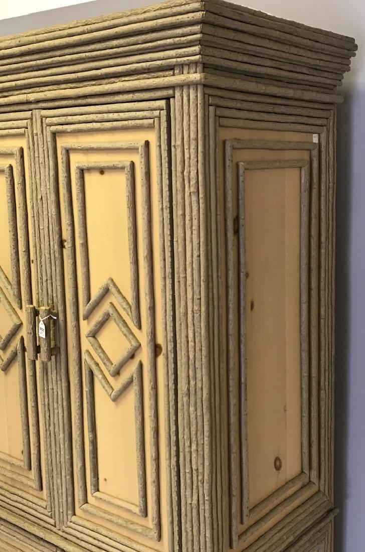 Adirondack style cabinet/armoire/linen press - 3