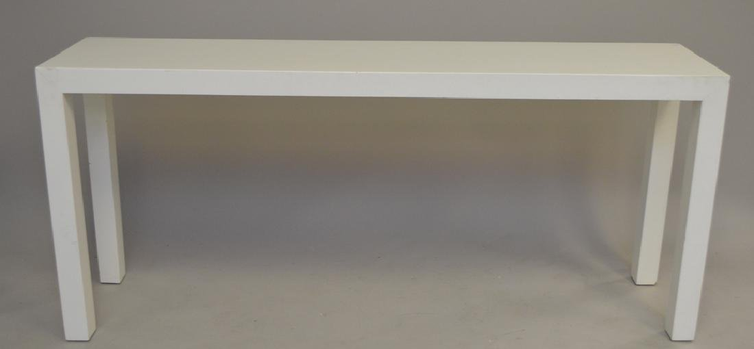 Dunbar Parsons white lacquered console table, 29h x 66w