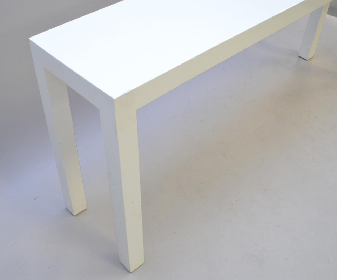 Dunbar Parsons white lacquered console table, 29h x 66w - 2