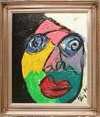 Peter Keil (1943- , German), oil on canvas, abstr