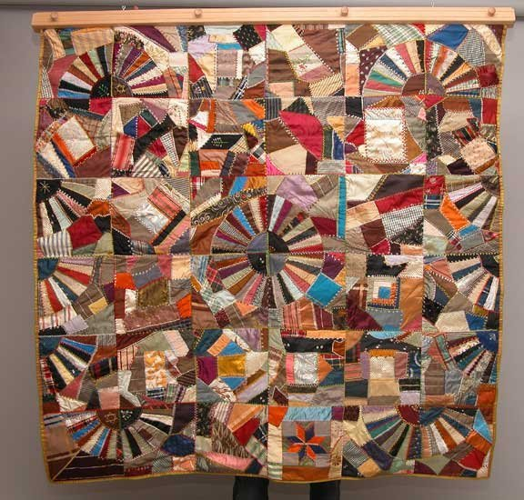 1002A: Large Textile multi colored wall hanging