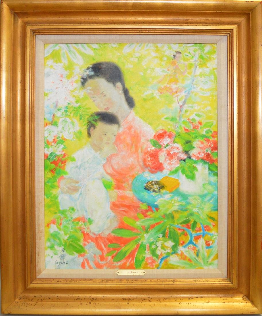 Le Pho (FRENCH/VIETNAMESE, 1907-2001) oil on canvas,