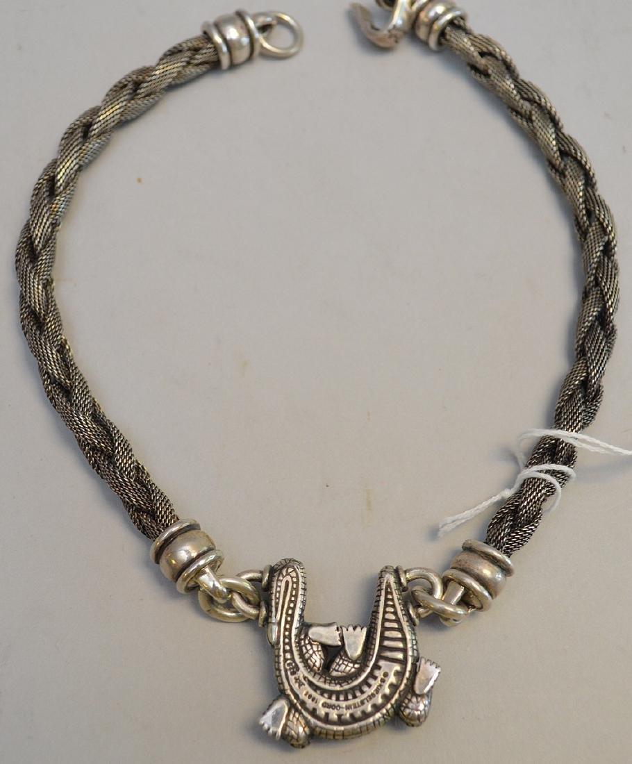 Barry Kieselstein-Cord Alligator Necklace in 925