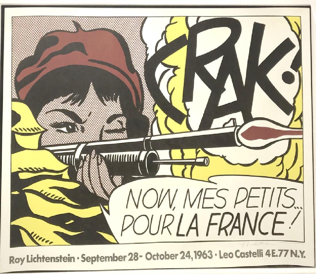 Roy Lichtenstein Crak!  Offset lithograph aside from