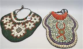 Two Tibetan Jeweled Chest Plates  Chest Plate with