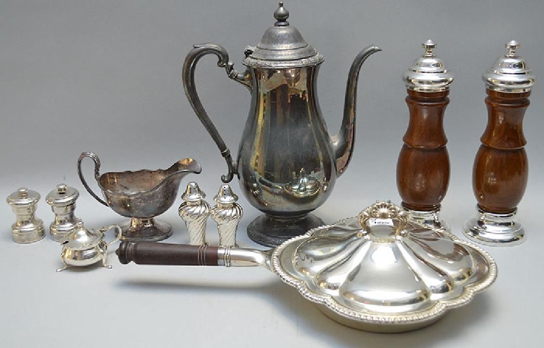 10 Pieces Assorted Silver Plated Items.  Largest Gorham