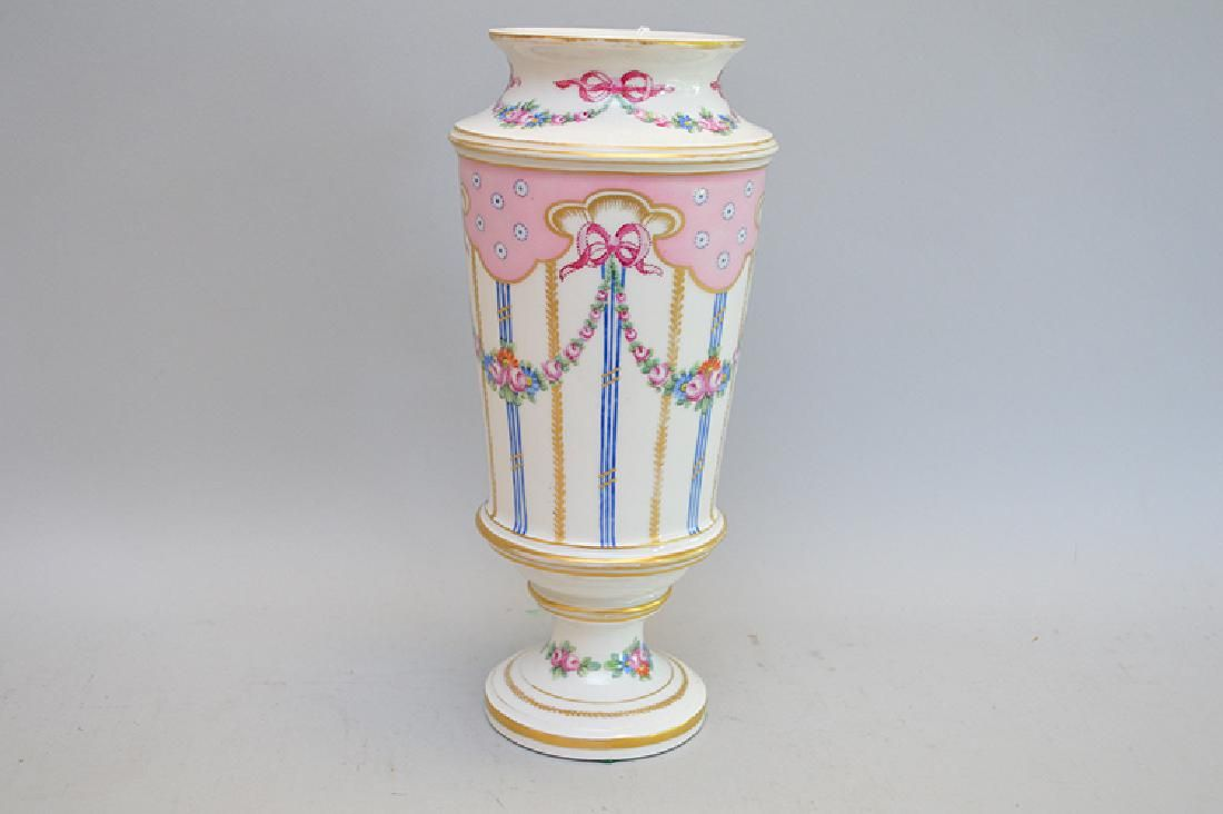 Sevres Porcelain Vase with handpainted floral and