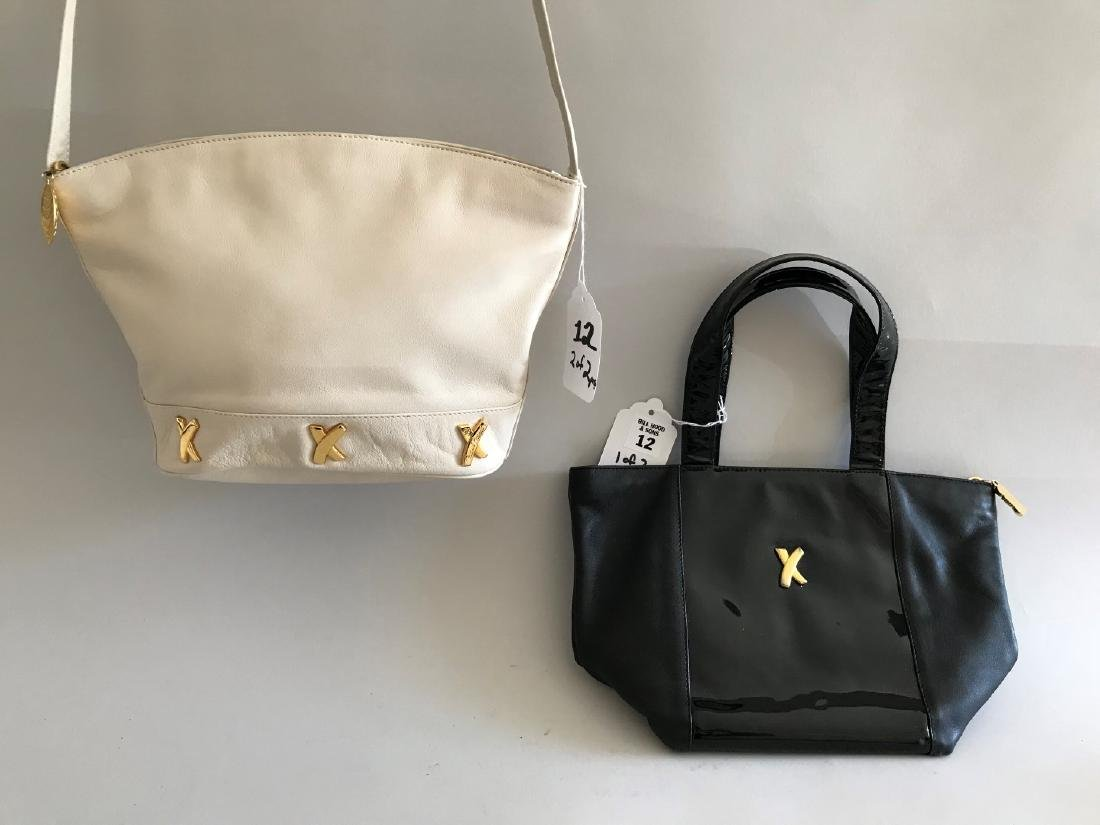 2 Paloma Picasso Handbags, (1) Black Patent Leather &